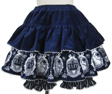 Magic Frame Velveteen Skirt