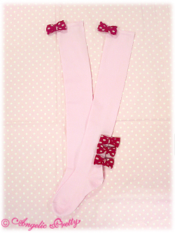 Triple Dot Ribbon OTKs - red x pink
