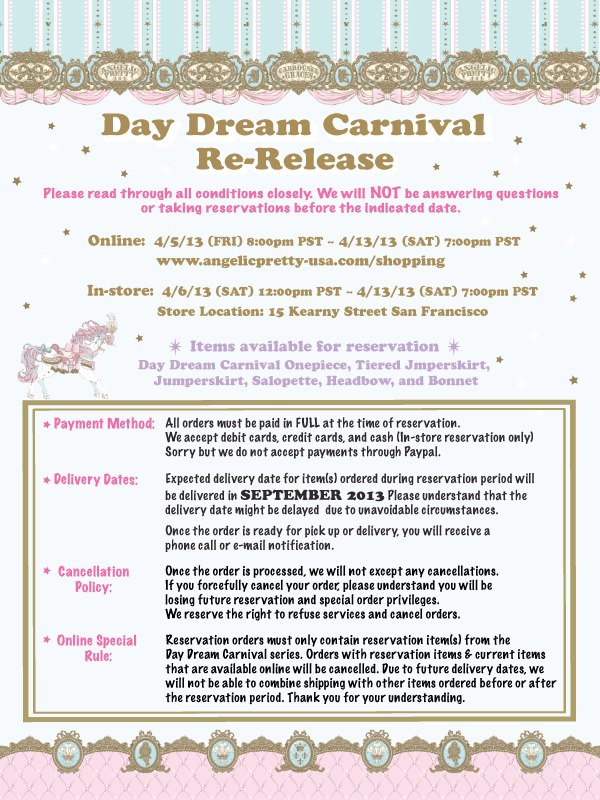 Day Dream Carnival Re-Release